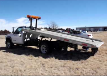 Hartford flat bed tow truck